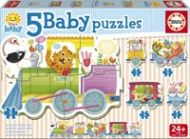 Puslespill 5i1 Baby Animal Train Educa