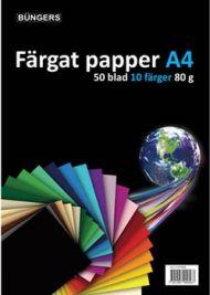Papir A4 80G Ass Farger 50 Ark