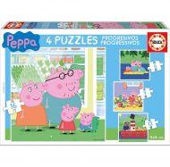 Puslespill 4i1 Peppa Pig Educa
