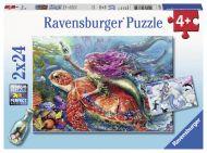 Puslespill 2X24 Havfruer Ravensburger