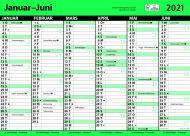 Veggkalender 2021 Kontorkalender enkel A3 m/linjer
