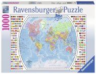 Puslespill 1000 Politisk Verdenskart Ravensburger