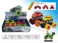 Monsterbil  Big Wheel 4 Ass  Friksjon (11Cm)