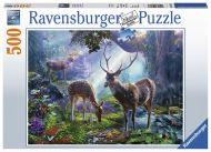 Puslespill 500 Hjorter I Skogen Ravensburger