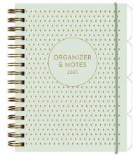 Kalender 2021 Leo Organizer & Notes A5 Uke  Grønn