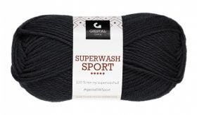 Garn Gjestal Superwash Sport 50g Svart