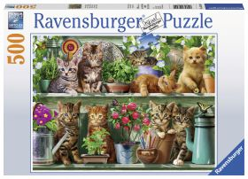 Puslespill 500 Cats On Shelf Ravensburger
