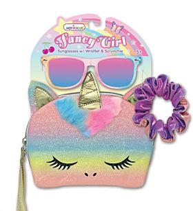 Leke Hot Focus Unicorn Veske Med Solbriller Og Hår