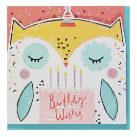 Systemkort Pc Die Cut Owl Birthday Wishes