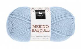 Garn Gjestal Merino Baby Ull 50g Lys blå