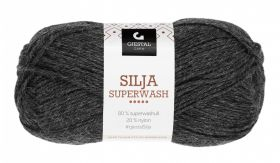 Garn Gjestal Silja Superwash 50g Koksgrå melert