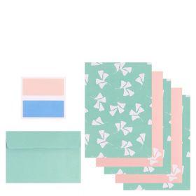 Brevpapir Fleur Blue Writing Set