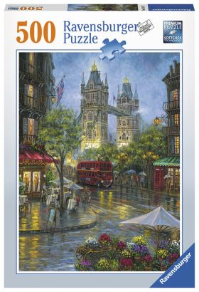 Puslespill 500 London Illustrated Ravensburger