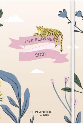 Kalender 2021 Life Planner A6 Uke Leopard