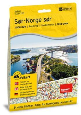 Veikart Sør-Norge Sør