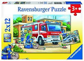 Puslespill 2X12 Politi Ravensburger