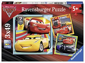 Puslespill 3X49 Disney Cars 3 Ravensburger