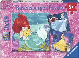 Puslespill 3X49 Disney Prinsesser Ravensburger