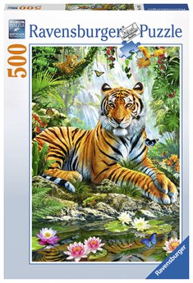 Puslespill 500 Tiger In Jungle Ravensburger