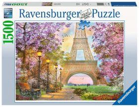 Puslespill 1500 Romantikk Paris Ravensburger