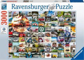 Puslespill 3000 99 VW biler Ravensburger