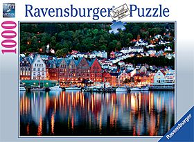 Puslespill 1000 Norge Bergen Ravensburger
