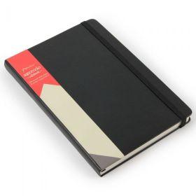 Notatbok Agenzio A5 Ulinjert Hardcover Sort 240s