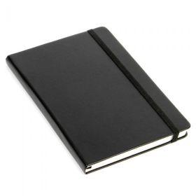 Notatbok Agenzio A5 Ruter Hardcover Sort 240s