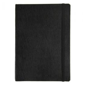 Notatbok Agenzio B5 Linjert Hardcover Sort 240s