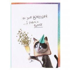 Systemkort PC On Your Birthday Toast Cat
