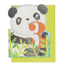 Kort Age 3 Panda Die Cut