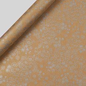 Gavepapir 3m Metallic Floral Kraft