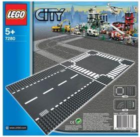 Lego Rett Vei Og Kryss 7280