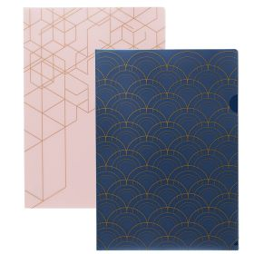 Plastlomme Kozo A4 Navy And Pink 2pk
