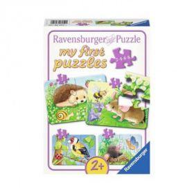 Puslespill 2,4,6,8 My First Puzzle Dyr i hagen Rav