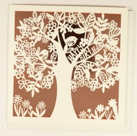 Systemkort PC Laser Cut Tree Rose Gold Hb