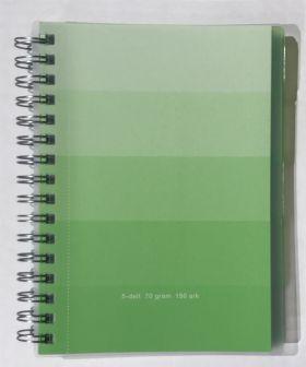 Emneblokk A5 1-5 Grønn