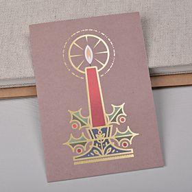 Julekort candle