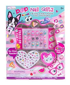 Hot Focus - Puppy And Cat Pop Nail Glitz Sett