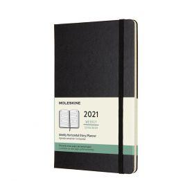 Moleskine 2021 12M L Uke Black Hard