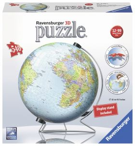 Puslespill 540 3D Globus Ravensburger