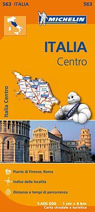 Italia centro = Italie centre : plans de Firenze, Roma : index des localités : distances et temps de
