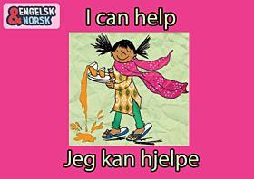 Jeg kan hjelpe = I can help