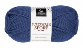 Garn Gjestal Superwash Sport 50g Blå