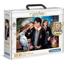 Puslespill 1000 Puzzle Briefcase Harry Potter Clem