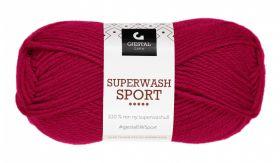 Garn Gjestal Superwash Sport 50g Mørk rød