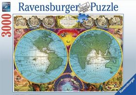 Puslespill 3000 Antique Map Ravensburger