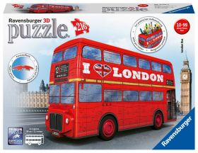 Puslespill 216 3D London Bus Ravensburger