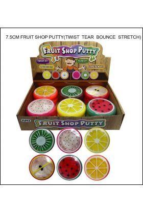 Leke Slime / Putty Frukter Ass.