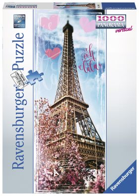 Puslespill 1000 Panorama Eiffeltower Ravensburger